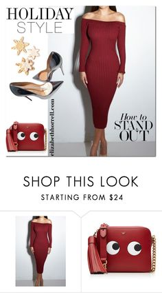 """LIZ"" by elizabethhorrell ❤ liked on Polyvore featuring Anya Hindmarch and Christian Louboutin"