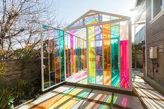 The Chromacabana: A Unique Technicolor Creative Space in Highland Park, Los Angeles, CA Exterior Design, Interior And Exterior, Future House, My House, Dream Garden, Home And Garden, Cheap Home Decor, Unique Home Decor, My Dream Home