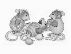 """""""You Crack Me Up"""" from House-Mouse Designs® Colouring Pages, Adult Coloring Pages, Coloring Books, House Mouse Stamps, Mouse Illustration, Mouse Pictures, Mouse Color, Moise, Cute Mouse"""
