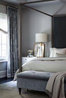 Gordon Woods New Build  Bedroom  Transitional by Elizabeth Metcalfe Interiors & Design Inc
