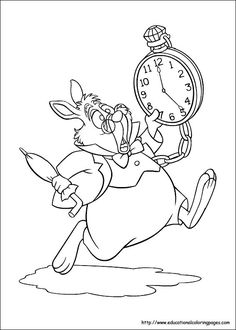 Photos of Alice in Wonderland. Images of Alice in Wonderland. Pics and coloring pictures of Alice in Wonderland. Disney Coloring Pages, Coloring Book Pages, Printable Coloring Pages, Alice In Wonderland Drawings, Alice In Wonderland Tea Party, Alice In Wonderland Rabbit, Coloring Pictures For Kids, Coloring Pages For Kids, Kids Coloring