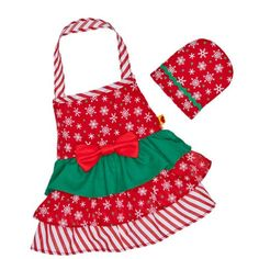 Build a Bear Workshop Holiday Apron 2 pc Teddy Bear Clothing *** Want to know more, click on the image.
