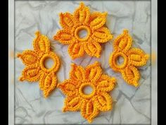Cordón rumano decorado a crochet - YouTube