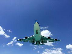 Kal 747 landing in SXM