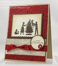 Welcome, Christmas Swap Card by stamperjen0 - Cards and Paper Crafts at Splitcoaststampers