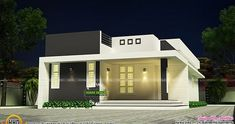 Low Budget Modern 3 Bedroom House Design In Kerala : Picture of House Plan Simple And Beautiful Low Budget House Kerala Home Design Low Budget Modern 3 Bedroom House Design In Kerala Pic. low budget modern 3 bedroom house design in kerala Simple House Plans, Simple House Design, House Front Design, Modern House Plans, Modern House Design, Village House Design, Kerala House Design, Bungalow House Design, Duplex House