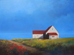 Overlooking the Bay 36 x 48 inch painting by LindaPuiattiPainting, $1800.00