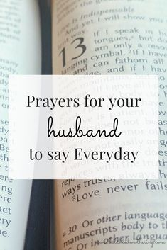 May 2019 - Instead of trying to change your husband, why not pray for him instead? Here are powerful daily prayers for your husband. Love Notes For Husband, Prayers For My Husband, Praying Wife, Message For Husband, Praying For Your Husband, To My Future Husband, Husband Prayer, Husband Wife, Dear Future