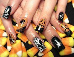 DIY halloween nails: DIY Halloween nail art : Happy Halloween Nail Art