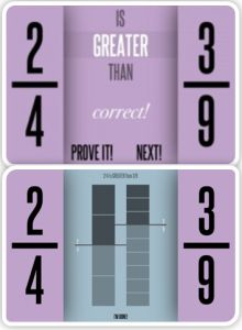 Oh No Fractions - free app helping kids comparing fractions visually.  #math #elementary #freekidsapp