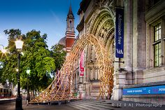 Amanda Levete's delicate and beautiful  Timber Wave outside the @V_and_A from summer 2011
