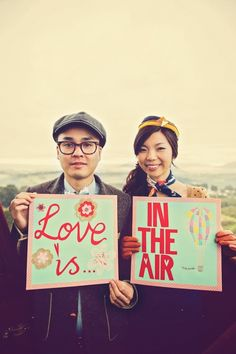 For a hot air balloon engagement photoshoot!