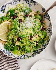 Shredded Brussels Sprout and Cranberry Salad