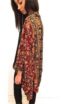 Silk beaded Kimono jacket / Shrug/ cover up