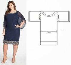 Patrón gratis: vestido fácil y elegante (todas las tallas) - yo elijo Coser