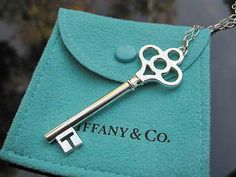 Found this exact Tiffany Crown Key necklace while my aunt and I were looking through her old stuff. She was given it as a gift, never wore it, and gave it to me! Gonna take it to a jeweler to have it cleaned up a bit, but I am OBSESSED! Tiffany Key, Tiffany And Co, Tiffany Blue, Under Lock And Key, Key Lock, Tiffany Necklace, Key Necklace, Antique Keys, Vintage Keys