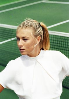 """""""Featured in Spring/Summer 2012 of Gentlewoman Magazine, Maria Sharapova is the 'The Competitor' as the tennis star is shot by Zoe Ghertner in vision of white on the court and stands at the Manhattan Country Club, Manhattan Beach, California. Laetitia Casta, Gwyneth Paltrow, Claudia Schiffer, Zoe Ghertner, Gentlewoman Magazine, Scarlett Johansson, Tennis Whites, Yuri, Maria Sharapova Photos"""