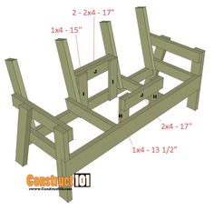 Double Chair Bench Plans - Step-By-Step Plans double chair bench plans step 5 Wood Bench Plans, Wooden Chair Plans, Garden Bench Plans, Outdoor Furniture Plans, Lawn Furniture, Furniture Dolly, Furniture Ideas, Inexpensive Furniture, Furniture Websites
