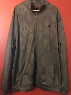 2f0b1ee56130 3XL Mens Gray Air Jordan Jacket - No Hoodie - Zip Up  fashion  clothing