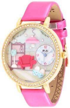 Reloj M:n: decorado con miniatiras en arcilla polimerica. Más en www.relojesmini.com