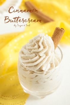This Cinnamon Buttercream is a simple and sweet frosting that's perfect for all your fall desserts!
