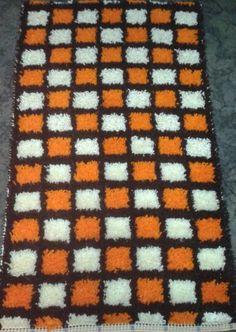 Latch hook. Bedside rug