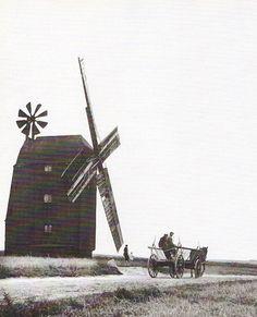 Windmühle in Pommern, um 1930, wohl Jershöft
