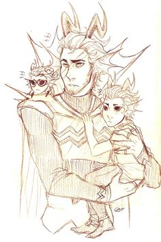 I FOUND IT I FOUND MY FAVORITE AMPORA PISTURE OHMAHGOSH LOOK AT THOSE CUTIES WHY WHY WHY DUALSCAR HOLDING CRONUS AND ERIDAN WITH THE HUGE GLASSES AND THE EYEBROWS LOOK AT DUALSCARS EYEBROWS<<