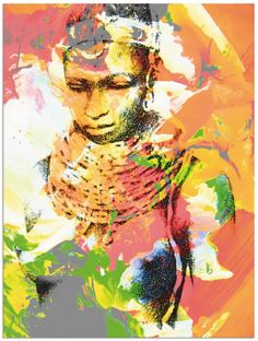 Maria-Anna Ziehr: Afrikanerin viele Produktarten & Größen   ARTGalerie.de Vinyl, Poster, Artwork, Painting, Anna, Material, Products, Unique Art, Art On Canvas