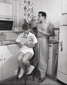 Lucille Ball (1911-1989) and Desi Arnaz (1917-1986)