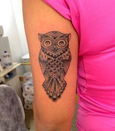 Tatuagem / Coruja / PB /  Braço / Tattoo / Eagle / Black and Grey / Arm #studio900 #crismaia