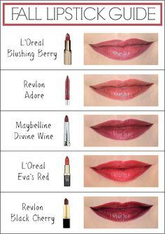 Penny Pincher Fashion: Fall Lipstick Guide