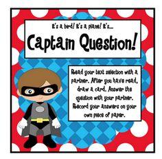 Pitner's Potpourri: It's a bird..It's a plane...It's Captain Question! -- Freebie!