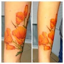 Image result for california poppy tattoo