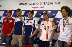 Marco Simoncelli #SIC58 & Valentino Rossi #VR46 & Nicky Hayden & Jorge & Stoner , Mugello 2010