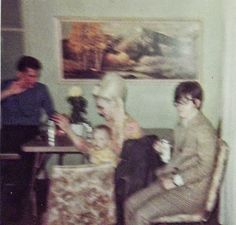 Chere visiting with Linda Carey Valinnes, baby Troy, and Richard Tooley Long Beach, California 1968