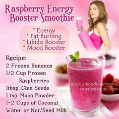 Raspberry Enegry Booter Smoothie