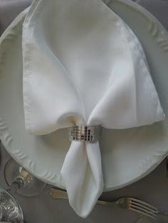 anel de guardanapo espelhado