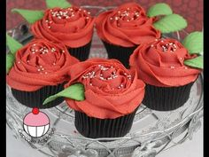 ▶ Rose Cupcakes! Decorate Buttercream Rose Swirl Cupcakes - A Cupcake Addiction How To Tutorial - YouTube