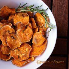 Süßkartoffel-Chips | Gesunder Snack | Sunflower Feelings | gesunde Rezepte