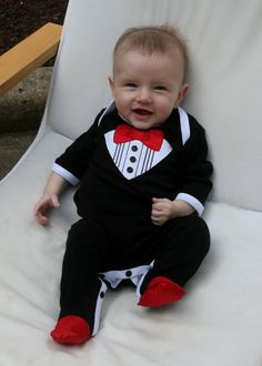 ON SALE! Sugar Plum Fairy Kids Boutique - Haute Baby Boy Tuxedo Footie, $29.00 (http://www.sugarplumfairyboca.com/haute-baby-boy-tuxedo-footie/)