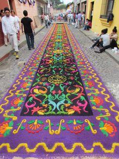 Alfombras, Semana Santa, Antigua, Guatemala
