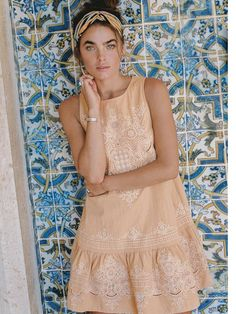 a898d216c2 Darling Embroidery Mini Dress Bohemian Style
