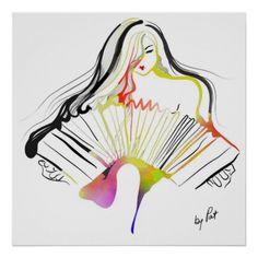 tango bandoneon dibujos - Buscar con Google