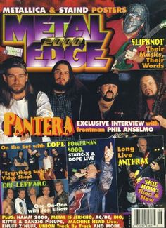 Pantera Magazine Cover Photos - List of magazine covers featuring ...