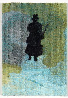 """Study for ""Ou est la fete"" # 1"" Andrew Cooks 2008 Size: 19.5cm x 13.3cm Materials: wool, cotton Weaver: John Dicks. Australian Tapestry Workshop. #tapestry"