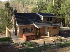 """Picturesque """"Treetop Cabin"""" in the Woods--Hot Tub! - Dingmans Ferry vacation rentals"""