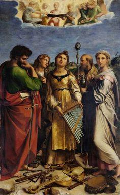 Raffaello Sanzio Ecstasy of St. Cecilia, 1514-1516