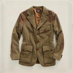Tweed Oilcloth Sport Coat - JACKETS & OUTERWEAR ALL STOCK - Ralph Lauren UK Tweed Run, Tweed Jacket, Preppy Men, Preppy Style, 1800s Fashion, Mens Fashion, Norfolk Jacket, British Style Men, Blazer Outfits Men