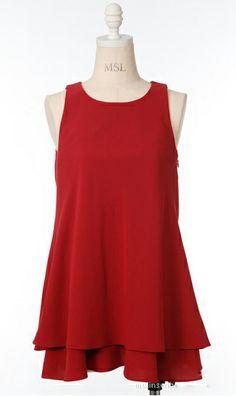 Bow Chiffon Dress 7989 Red chiffon